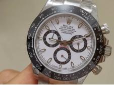 Replica Rolex Daytona 116500 White Dial A7750 Noob Fake
