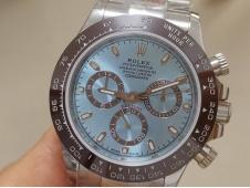 Replica Rolex Daytona 116506 Ice Blue Dial Brown Ceramic Bezel A7750 Noob Fake