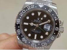 Replica Rolex GMT II 116710 LN Black Dial 904L 1:1 CLEAN Factory VR3186 CHS