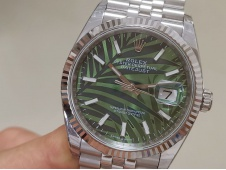 Replica Rolex Datejust 36mm Green Motif Dial 2021 EWF on Julibee Bracelet