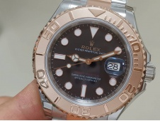 Replica Rolex Yacht-Master 126621 EWF 1:1 Best Black Dial on SS/Rose Gold Bracelet SH3186
